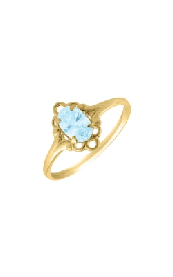 Albert's 10k Yellow Gold Child Aquamarine Ring R74403 - SIZE 4 product image