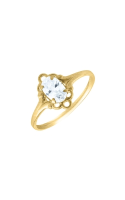 Albert's 10k Yellow Gold Child White Topaz Ring R74404 - SIZE 4 product image