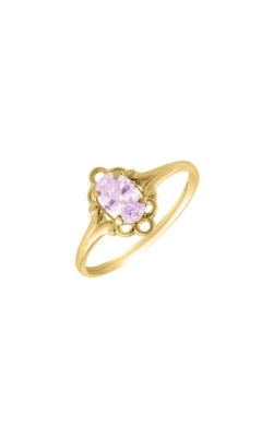 Albert's 10k Yellow Gold Child Rhodolite Ring R74406 - SIZE 4 product image