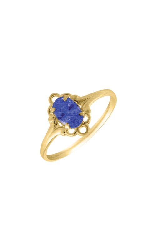 Albert's 14k Yellow Child Blue Sapphire Ring Size 4 R74409 product image