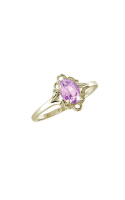 Albert's 10k Yellow Gold Child Pink Tourmaline Ring R74410 - SIZE 4 product image