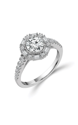 Albert's 14k White Gold 1.50ctw Brilliant Engagement Ring RE-13698B56W46 product image