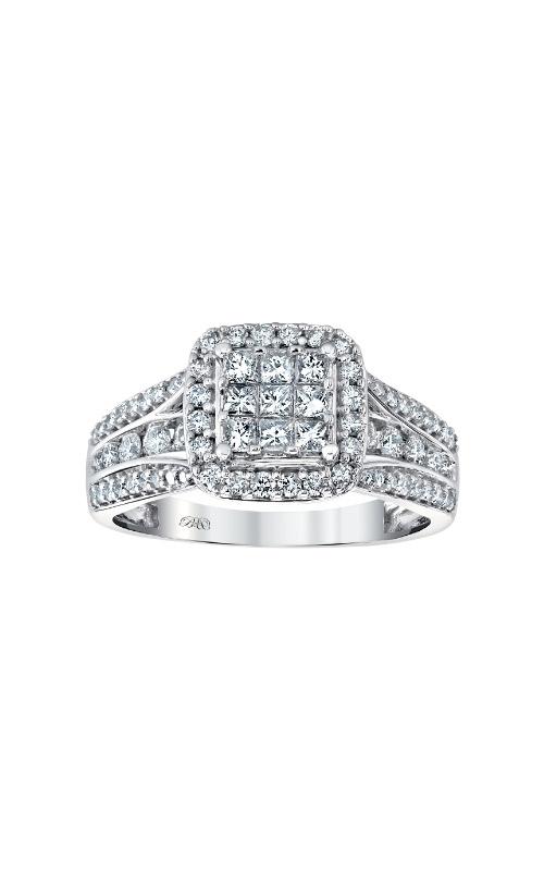 Albert's 10k White Gold 1ctw Diamond Engagement Ring RE-14630BBA68 product image