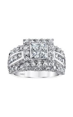 Albert's 14k White Gold 2ctw Diamond Quad Engagement Ring RE-5403BBA56J4W   product image