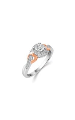 Sterling Silver And 10k Rose Gold 1/5ctw Diamond Promise Ring RE-6423TPA67P0SL product image