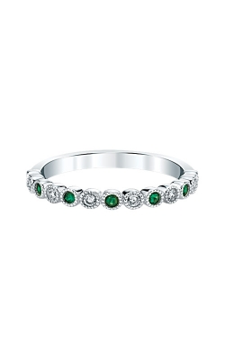 Albert's 14k White Gold Emerald Band RF1348-E42W product image