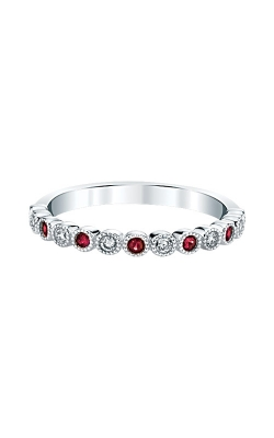 Albert's 14k White Gold Ruby Band RF1348-R42W product image