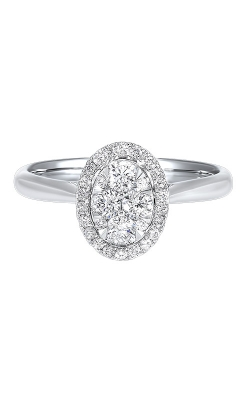 Albert's 14k White Gold 1/4ctw Oval Diamond Ring RG10560-4WC product image