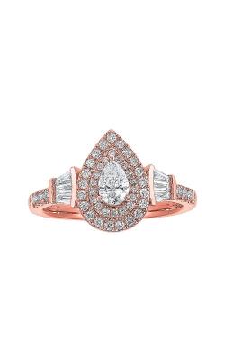 Albert's 14k Rose Gold 3/4ctw Pear Diamond Engagement Ring RG10614-4PB product image