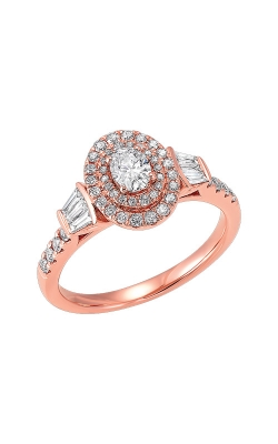 Albert's 14k Rose Gold 3/4ctw Oval Diamond Engagement Ring RG10615-4PB product image