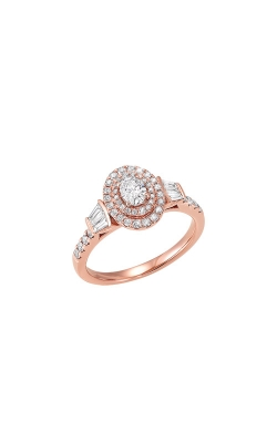Albert's 14k Rose Gold 0.75ctw Oval Diamond Ring RG10615-4WB product image