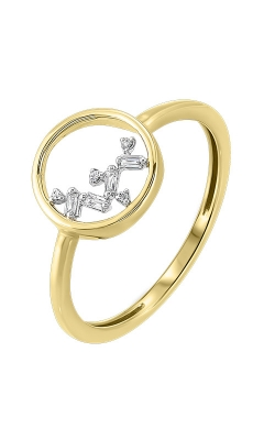 Albert's 14k Yellow Gold Baguette Circle Ring RG10622-4YCSC product image