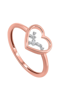 Albert's 14k Rose Gold 1/20ctw Baguette Heart Ring RG10623-4PCSC product image