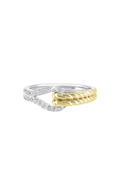 Albert's 14k White and Yellow Gold 1/6ctw Diamond Ring RG10893-4WYC product image