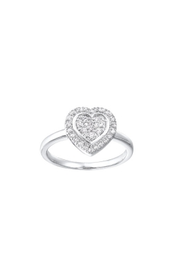 Albert's Sterling Silver 1/5ctw Diamond Heart Ring RG10988-SSSC product image