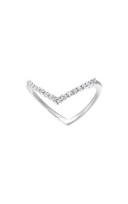 Albert's 10k White Gold .25ctw Diamond V Ring RG11009-1WC product image