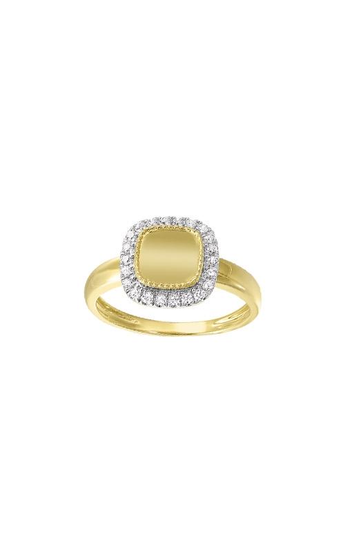 Albert's 14k Yellow Gold 1/5ct Diamond Disc Ring RG11015-4YC product image