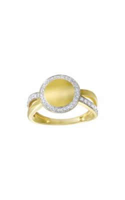 Albert's 14k Yellow Gold 1/4ct Diamond Disc Ring RG11018-4YC product image