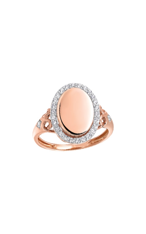 Albert's 14k Rose Gold 1/4ct Diamond Disc Ring RG11021-4PC product image