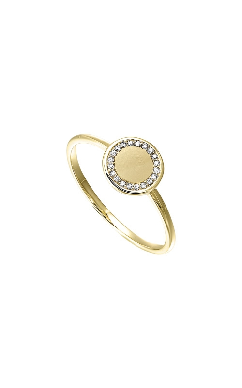 Albert's 14k Yellow Gold Diamond Disc Ring RG48544-1YSC product image