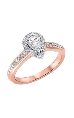 Albert's 14k Rose Gold 5/8ctw Pear Diamond Ring RG63189-4WPB product image