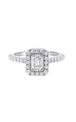 Albert's 14k White Gold 1ctw Emerald Halo Engagement Ring RG72685-4WB product image