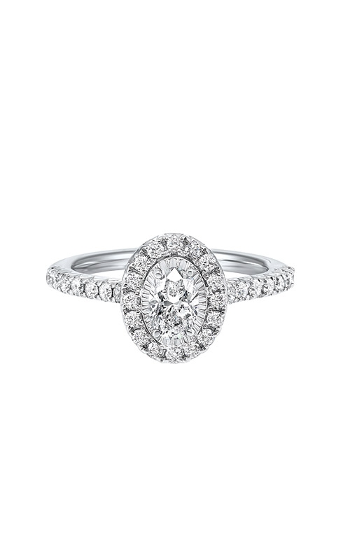 Albert's 14k White Gold 1ctw Oval Diamond Engagement Ring RG72686-4WB product image