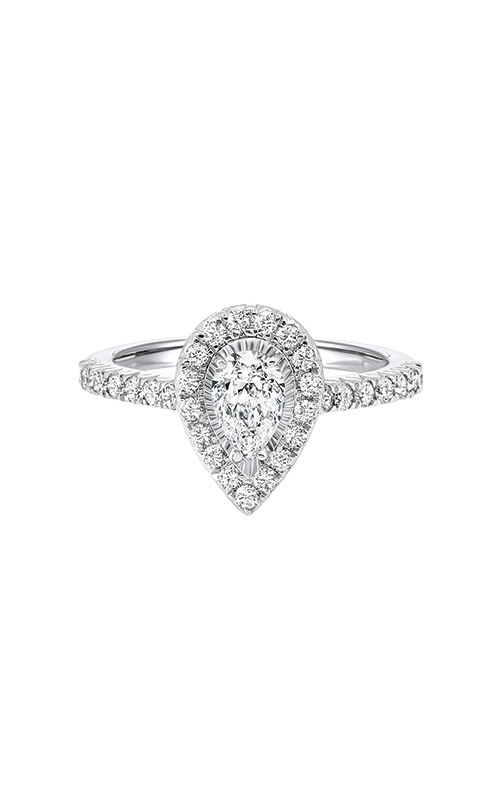 Albert's 14k White Gold 1ctw Pear Diamond Halo Engagement Ring RG72687-4WB product image