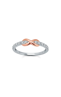 Albert's Sterling Silver And 10k Rose Gold Diamond Promise Ring RLD4166 product image