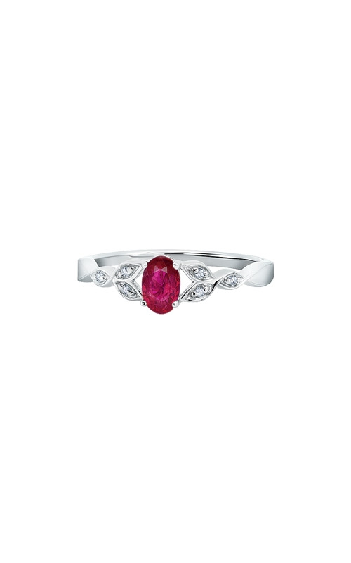 Albert's Sterling Silver .036ctw Created Ruby Ring RM7343-CR-SSAS43-7 product image