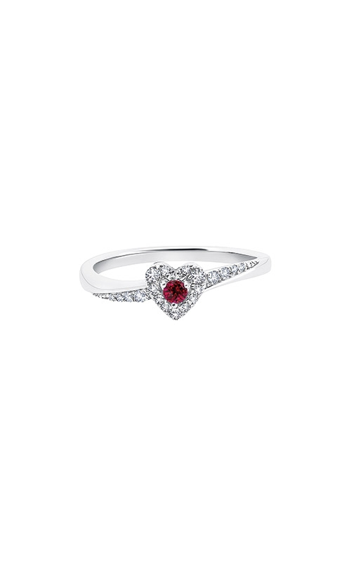Albert's 10k White Gold Diamond and Ruby Heart Ring RM7533-RU-0WAS43 product image