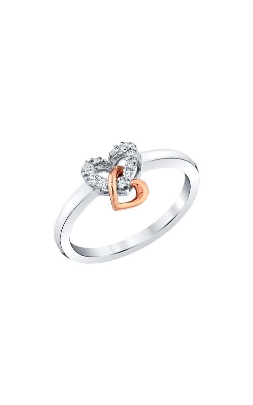 Albert's 10k White and Rose Gold .09ctw Diamond Heart Ring RM7570-010-0WRS43 product image