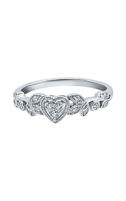 Albert's 10k White Gold 1/8ctw Diamond Heart Promise Ring RP-0405TPA660W product image