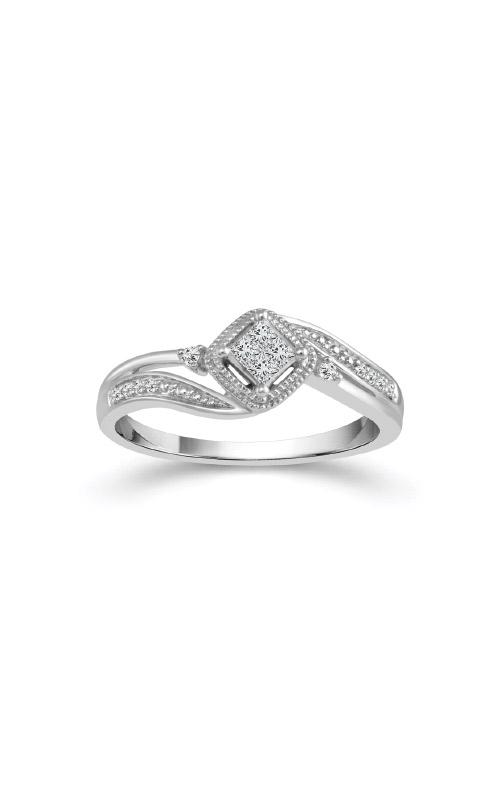 Albert's 10k White Gold 1/6ctw Quad Diamond Promise Ring RP-0491-A67-10W product image