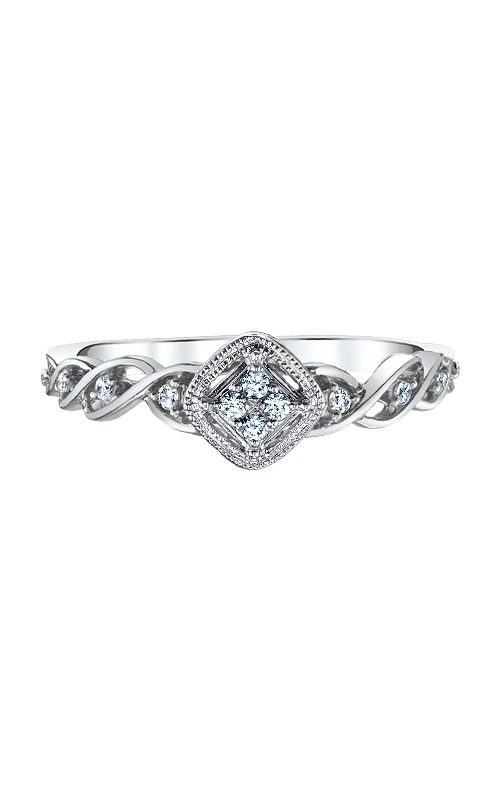 Albert's Sterling Silver .10ctw Diamond Promise Ring RP-1543TPA97SIL product image