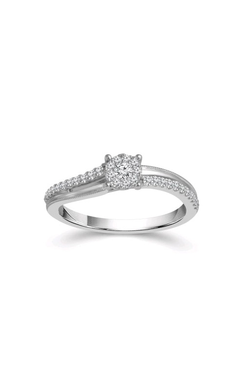 Albert's 10k White Gold 1/4ctw Round Diamond Cluster Promise Ring RP-1830TPA97W0 product image