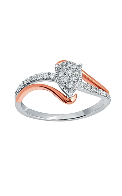 Albert's 10k White & Rose Gold 1/5ctw Promise Ring RP-1832A78T0S product image