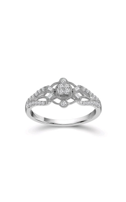 Albert's 10k White Gold 1/4ctw Diamond Cluster Promise Ring RP-1839A97W0 product image