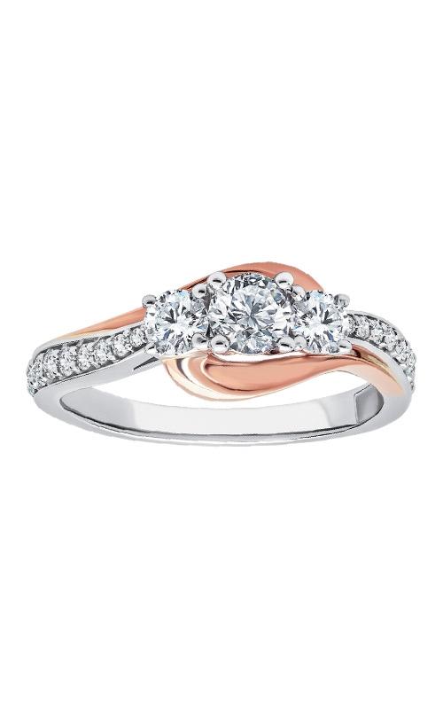 Albert's 10k White & Rose Gold 1/2ctw Engagement Ring RT-1177M-A66-OT product image