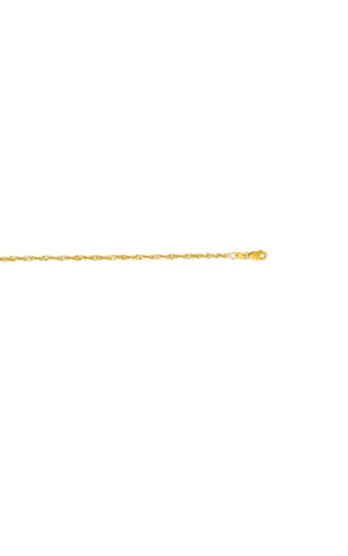 Albert's 14k Yellow Gold 10 inch Singapore Anklet SING035-10 product image