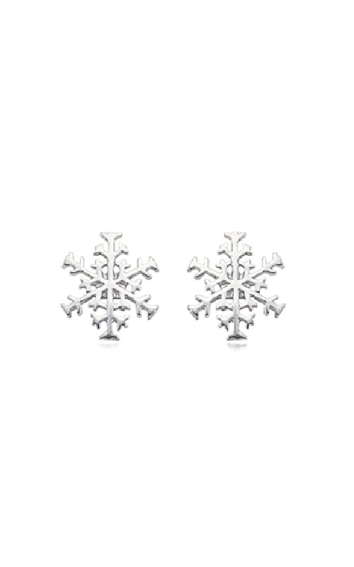 Albert's Sterling Silver Snowflake Earrings 62/516 product image