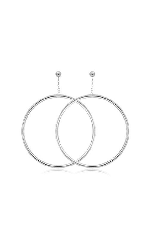 Albert's Sterling Silver Hoop Chain Drop Earrings 63/190 product image