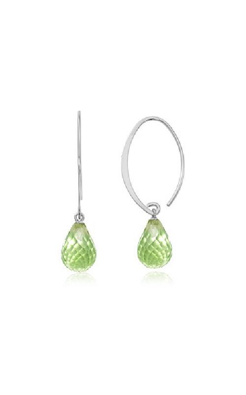 Albert's Sterling Silver Peridot Sweeping Earrings 13462PE-SS product image