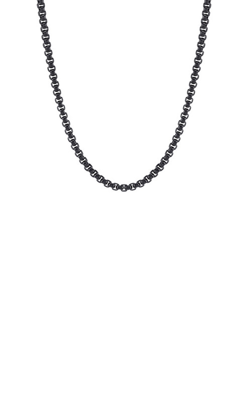 Albert's Stainless Steel 4mm Black Rolo Chain BS8800-SS-24-BI product image
