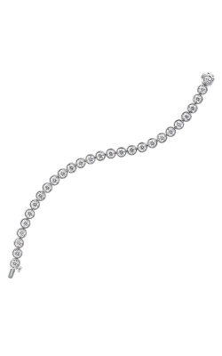 Albert's 14k White Gold 1ctw Diamond Bezel Bracelet BC10077-4WC product image