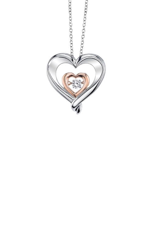 Albert's Sterling Silver & Pink Diamond Heart Necklace 2442600077W product image