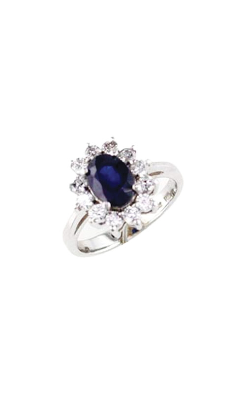 Albert's 14k White Gold 2.15ctw Blue Sapphire and Diamond Ring W2809SP product image
