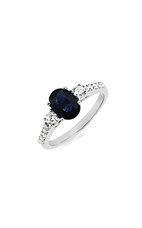 Albert's 14k White Gold 1.95ctw Blue Sapphire and Diamond Ring W3834SP product image