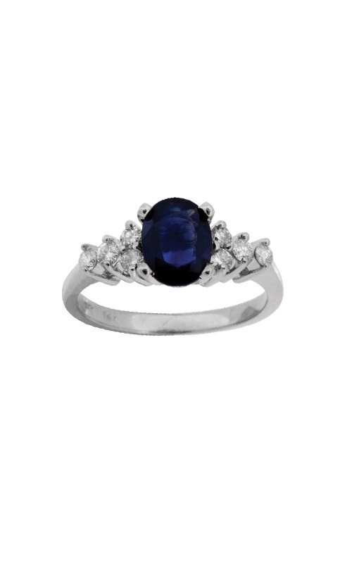 Albert's 14k White Gold 1.85ctw Blue Sapphire and Diamond Ring W3835SP product image