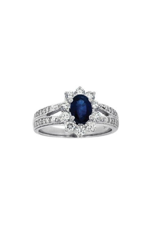 Albert's 14k White Gold 1.84ctw Blue Sapphire and Diamond Ring W3884SP product image